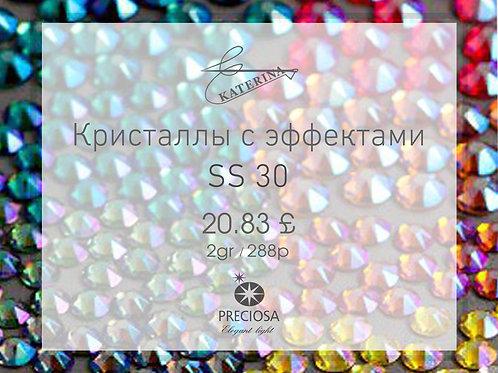 Цветные кристаллы с эффектами PRECIOSA SS30 (2гросс = 288шт)
