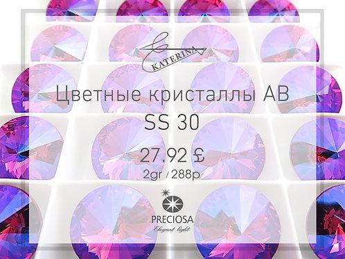 Цветные кристаллы AB PRECIOSA SS30 (2гросс = 288шт)