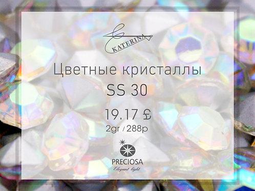 Цветные кристаллы PRECIOSA SS30 (2гросс = 288шт)