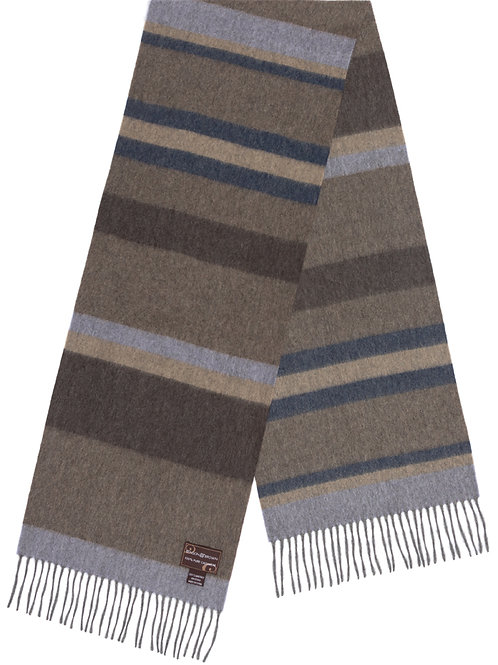 Style #11 Cashmere Beige and Blue Stripe