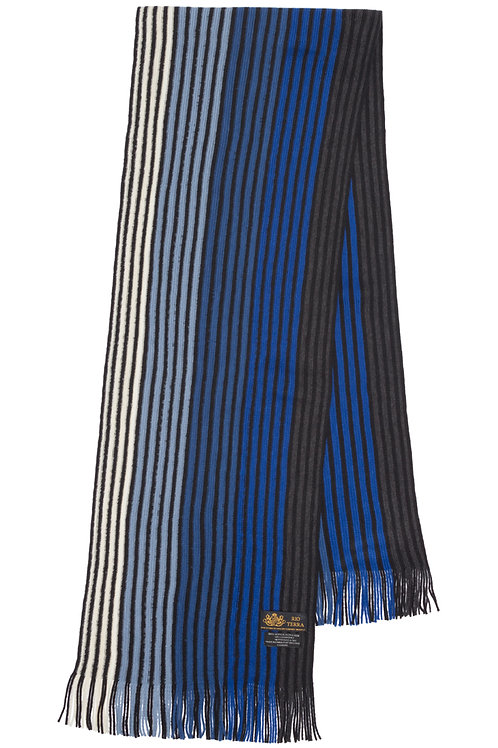 Style# 243 Royal Blue Striped Scarf
