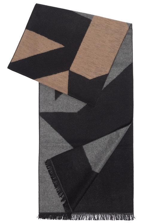 Silk Brush #65 Beige and Grey Pattern