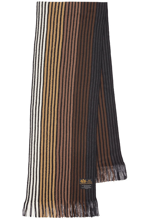 Style# 241 Brown Striped Scarf