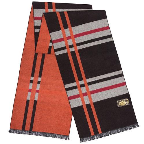 Style# 225 Modal Brown & Orange Large Check
