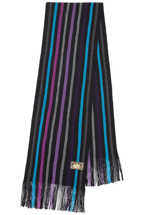 Style# 232 Grey & purple Striped Scarf