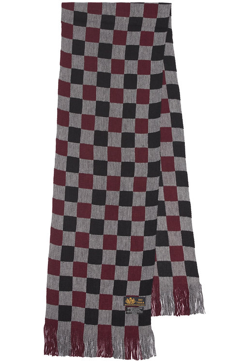 Style# 245 Crimson Checker Scarf