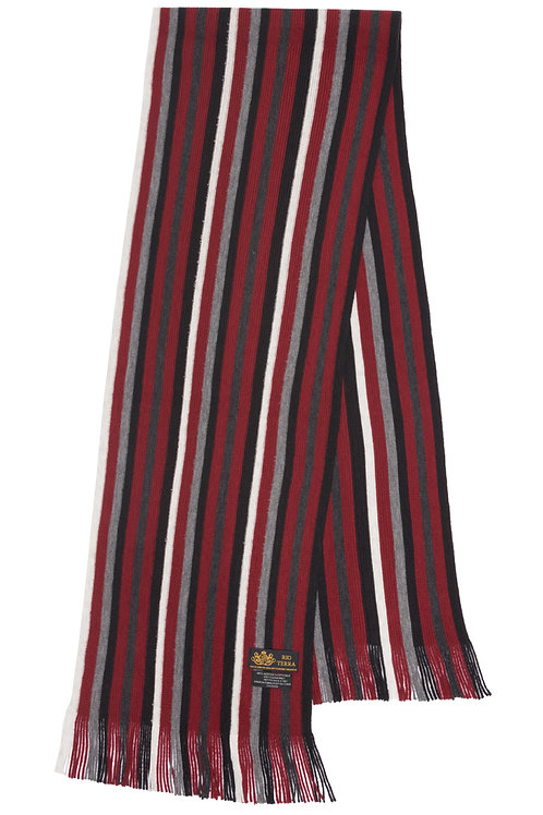 Style# 240 Crimson Striped Scarf