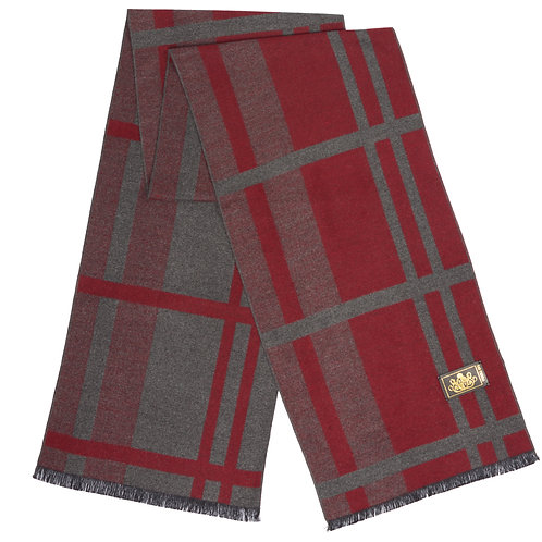 Style# 220 Modal Red & Grey Large Check