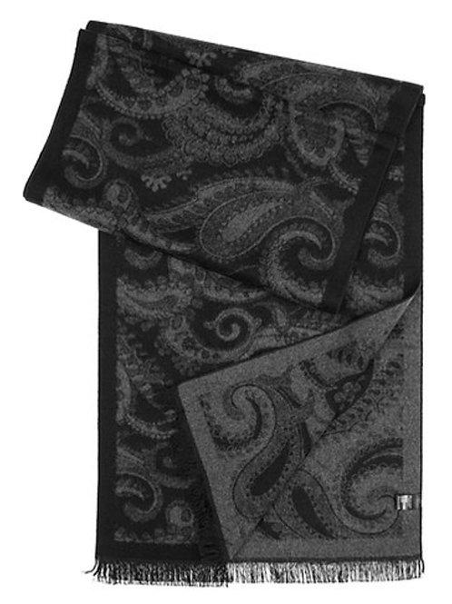 Style #72 Black & Grey Paisley
