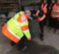 Hazardous Lowering of Wheelie Bin