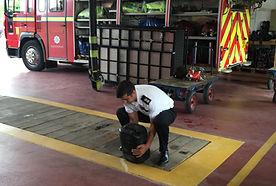 Squat Lifting at Training Centre
