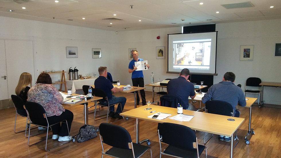 Gareth guiding attendees through Course