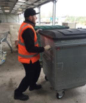 Safer Pushing of Commercial Bin