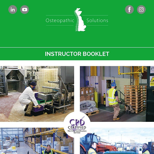 Manual Handling Instructor Course Booklets