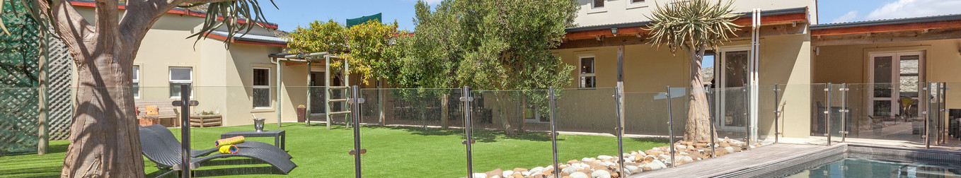 13m-long glass fenced off pool.