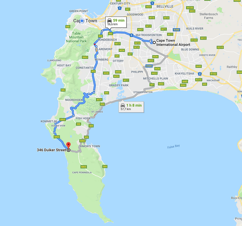 Directions from Cape Town International