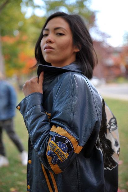leather jacket hieram wearable art