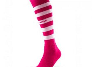 O-strømpe rosa/hvit
