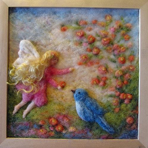 Fairy with Blue Bird