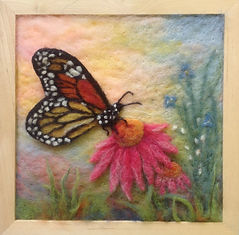 Monarch Butterfly wool picture