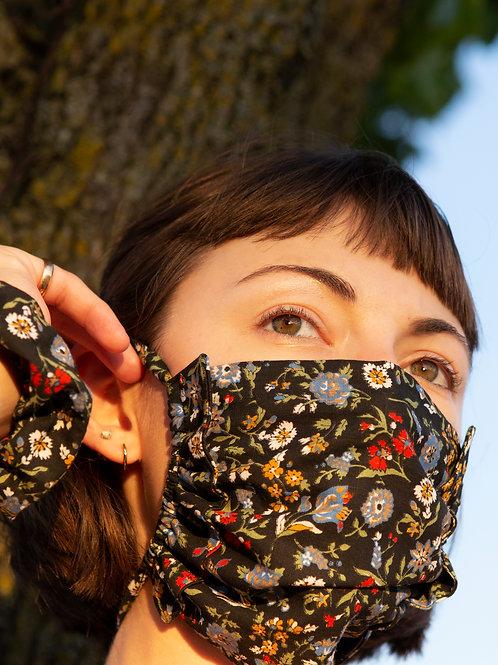 Midnight Garden Ruffle Mask