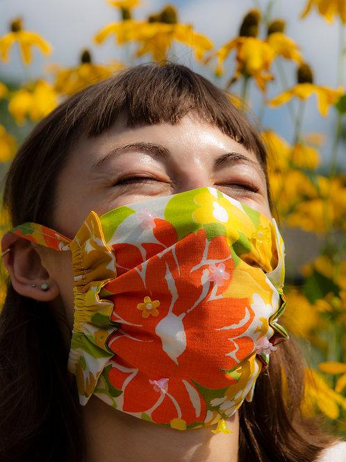 Sunflower Ruffle Mask