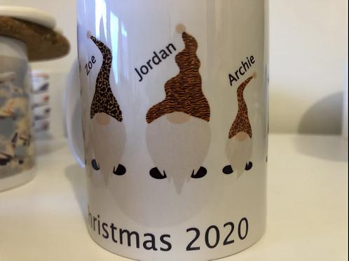 Personalised Gonk Christmas Mug