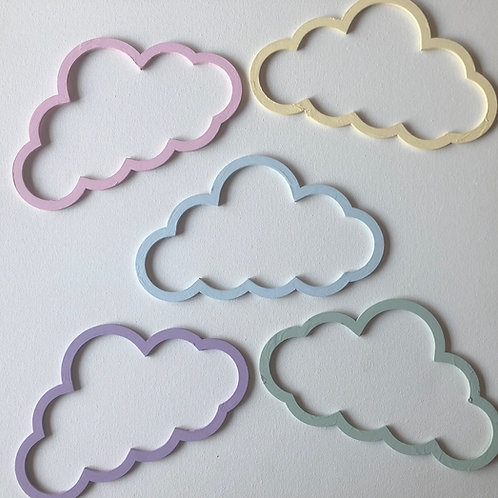 Decorative Cloud Nursery Decoration - set of 5