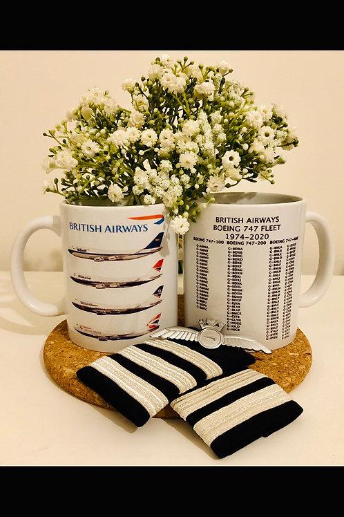 Queen of the skies British Airways 747 mug.
