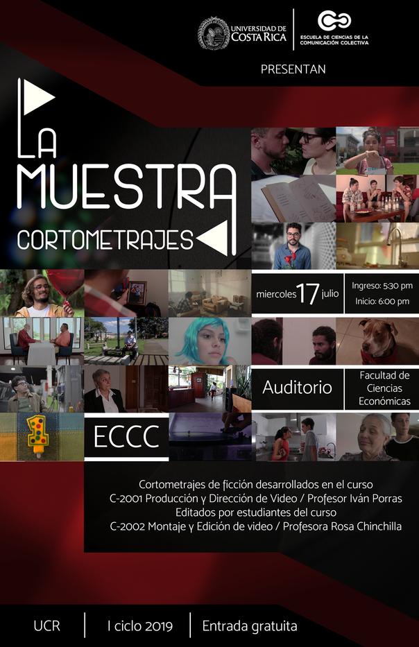 Afiche Muestra de cortometrajes