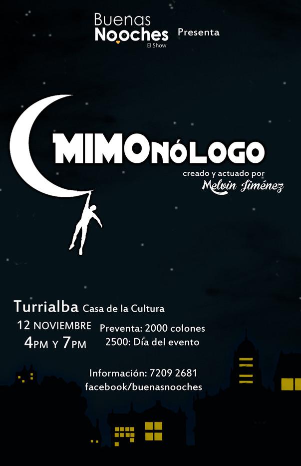 """Afiche """"Mimonólogo"""""""