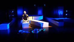 """En el espacio del Teatro Universitario durante la obra """"La edad de la ira"""""""