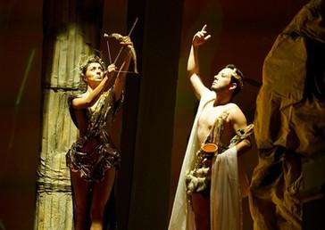 Actuación en Edipo Rey en el Teatro Nacional de Costa Rica. Personaje: Dios Baco. Bajo la dirección de Luis Carlos Vasquez.