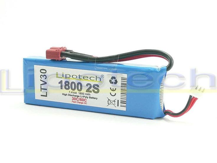 batteria 1800x7.4 30/60c  dean lipotech
