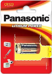 batteria cr123 panasonic