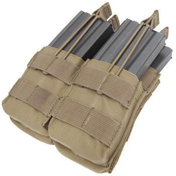 CONDOR DOUBLE STACKER M4 MAG POUCH COYOTE