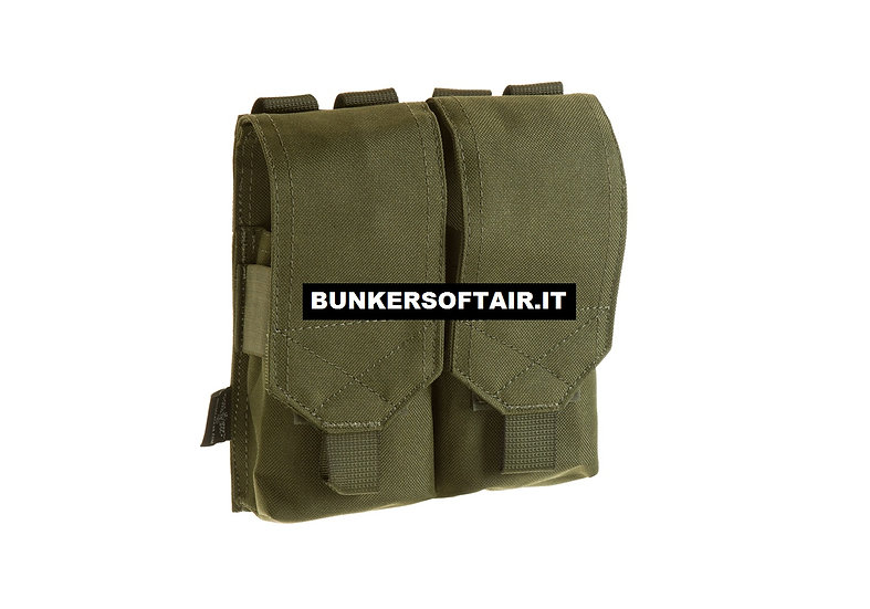 INVADER GEAR 5.56 DOUBLE X2 MAG POUCH OD GREEN