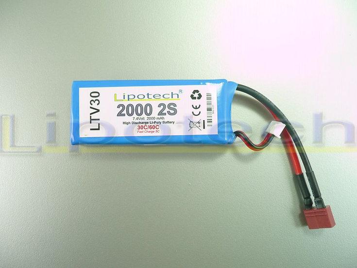 batteria 2000x7.4  30/60c  dean lipotech