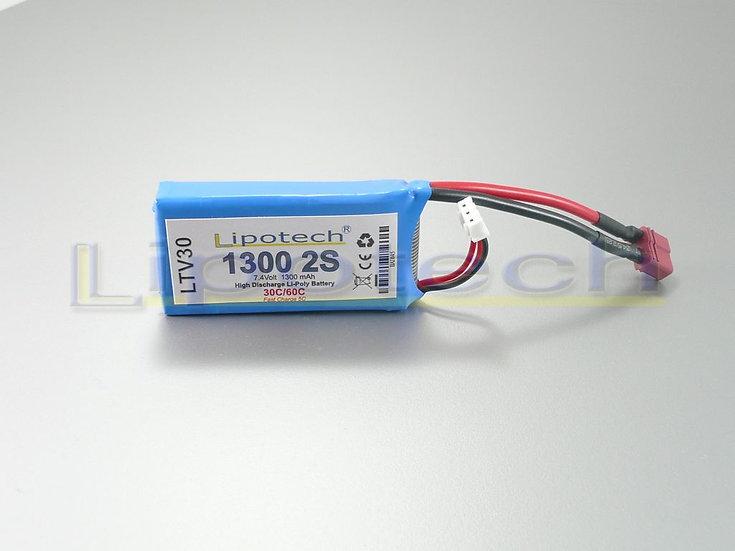 batteria lipo 1300x7.4 30/60c  dean  lipotech