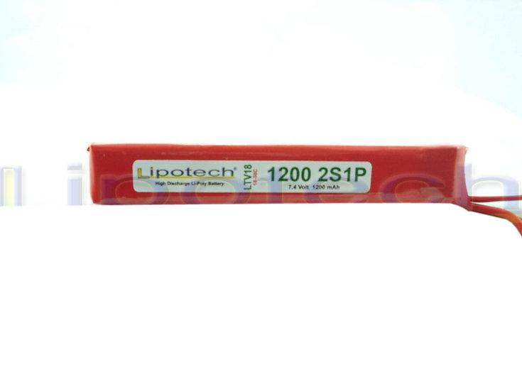batteria lipo 1200x7.4  18/30c tamiya mini  lipotech