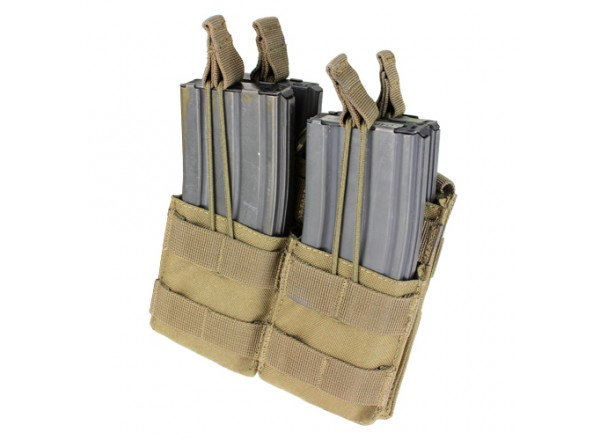 CONDOR DOUBLE OPEN TOP M4 POUCH COYOTE