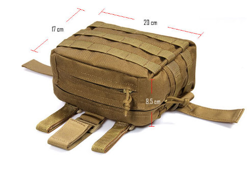 FLYYE DROP LEG ACCESSORIES POUCH COYOTE