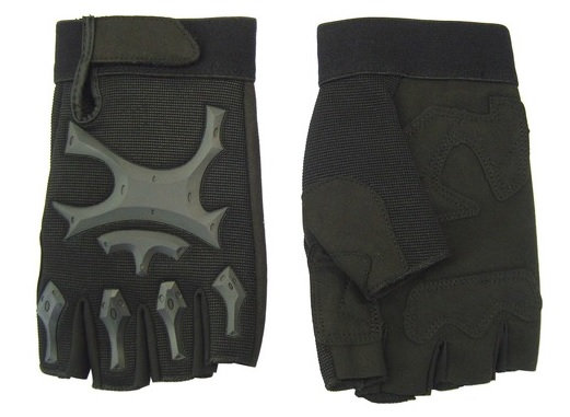 JS TACTICAL GUANTI MEZZE DITA BLACK M