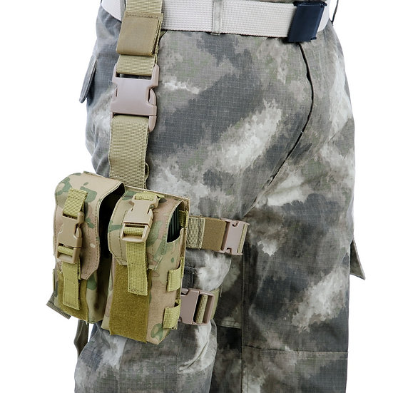 101 INC. DROP LEG M4 POUCH DOUBLE OD GREEN