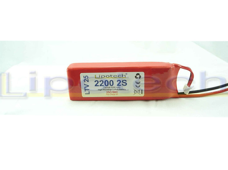 batteria lipo 2200x7.4  25/50c tamiya lipotech
