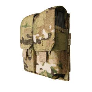 CONDOR DOUBLE M4 MAG POUCH MULTICAM