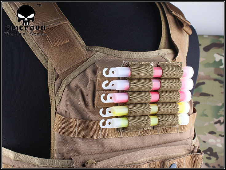 EMERSON MILITARY LIGHTSTICK POUCH VELCRO COYOTE