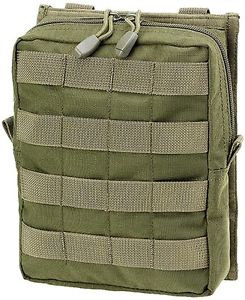 DEFCON5 LARGE VERTICAL UTILITY POUCH OD GREEN
