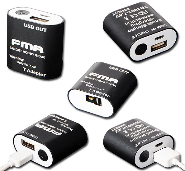 ADATTATORE USB TB1061 NERO FMA PER BATTERIE 7,4 v