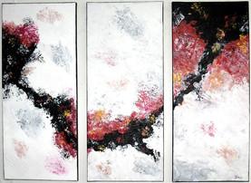 Triptychon   |   2010  |  Mischtechnik in Acryl | 3x30cm